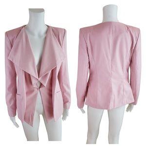 Jackets & Blazers - Blush Pink Waterfall Drape Blazer M